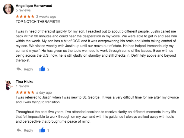 review of st george counselor justin stum